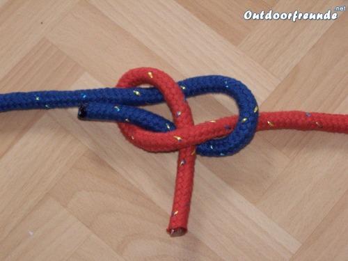 Schotstek - Version zur Verbindung zweier gleich starker Seile - Schritt 4
