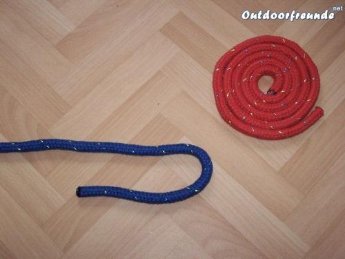 Schotstek - Version zur Verbindung zweier gleich starker Seile - Schritt 1