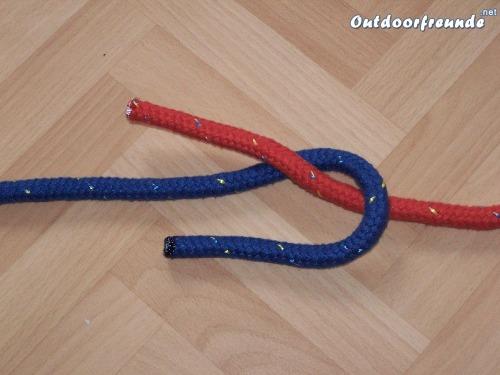 Schotstek - Version zur Verbindung zweier gleich starker Seile - Schritt 2