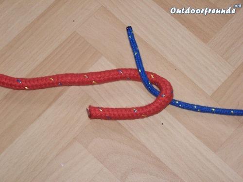 Schotstek - Version zur Verb. zweier unterschiedlich starker Seile - Schritt 2